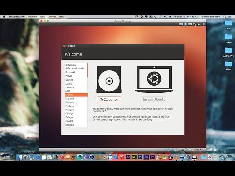 How to run Ubuntu in VirtualBox on Mac Os X  and Windows 10/8/7