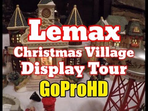 Lemax Christmas Village Town New (GoPro HD) - Home Display Tour Setup Ideas