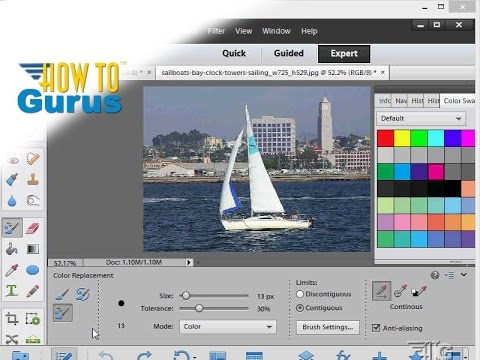 How to Change Color with the Color Replacement Tool in Adobe Photoshop Elements 15 14 13 12 11