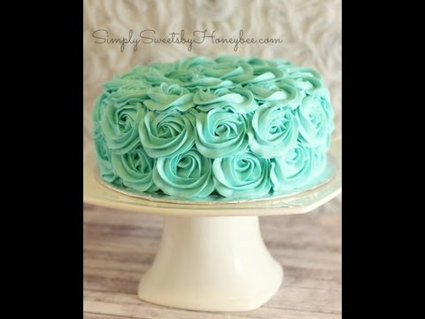 Rose Swirl Cake Tutorial
