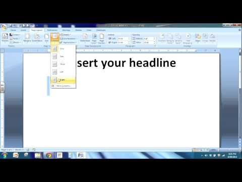 How to write a newspaper article using Word.