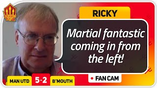 Ricky! MARTIAL OUR BEST NO.9! Manchester United 5-2 Bournemouth Fan Cam