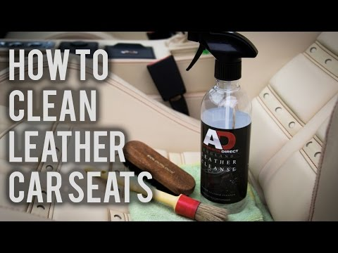 How to Clean Leather Interior Car Seats