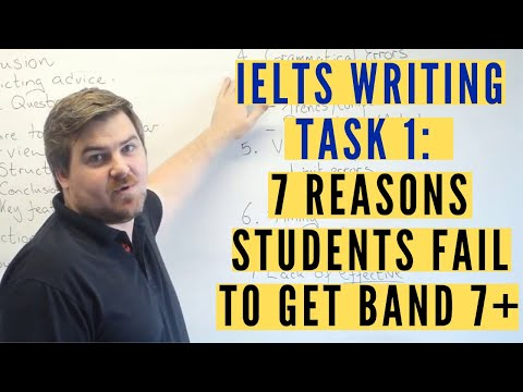IELTS Writing Task 1: 7 Reasons Students Fail to Get Band 7+