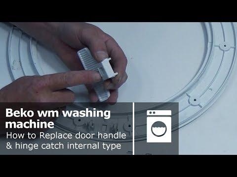 Beko wmb washing machine door handle & hinge catch: how to replace