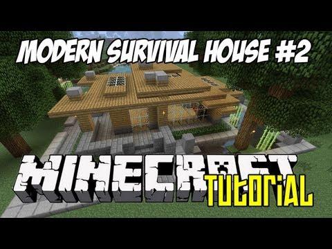 Minecraft Tutorial HD - Modern Survival House 2