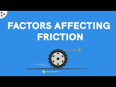 Physics - Factors affecting Friction