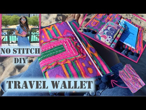 DIY Travel Wallet | No Stitch