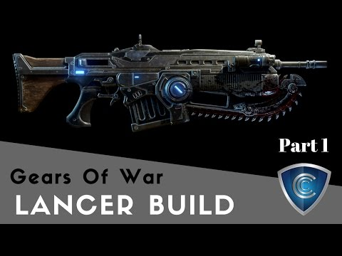 Gears of War Lancer EVA Foam Cosplay Prop build PRT1