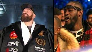 Deontay Wilder reacts hilariously to Tyson Fury