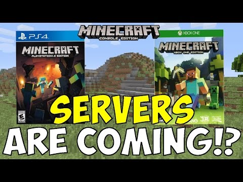 Minecraft PS4 & XBOX 1: SERVERS ARE COMING!?