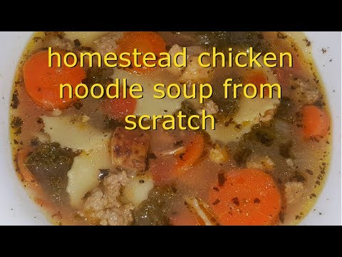 homestead chicken soup from scratch
