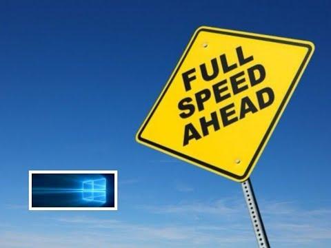 Speed Up internet Connection (windows 10  )