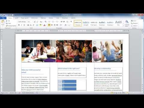 make a brochure from scratch in word 2010