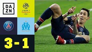 Angel Di Maria Verzückt Prinzenpark | Paris Saint-germain - Marseille 3:1 | Ligue 1 | Dazn Highlight