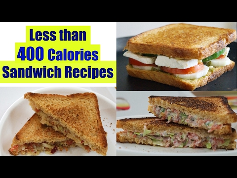 4 Healthy Sandwich Recipes | Weight Loss Recipes | Healthy Breakfast Ideas in Hindi