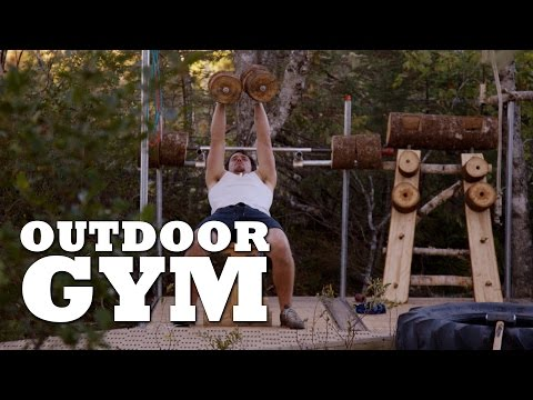Work out outside at the Outdoor Gym!