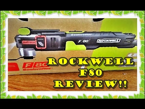 How to use the Rockwell F80 Sonicrafter Oscillating Multi-tool Review Tutorial Change Blades