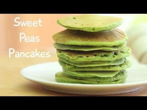 Sweet peas green pancakes recipe