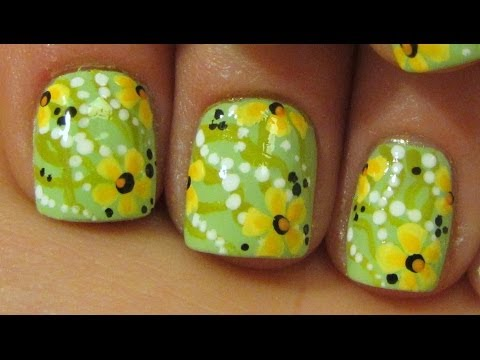 Spring Collaboration with Beyonceesha The First Flowers of Spring Design Nail Art Tutorial