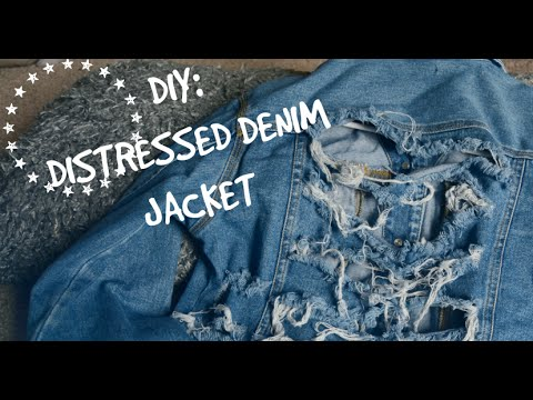 Distressed/Frayed Jacket | DIY