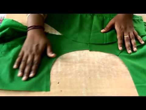Saree Blouse Sleeve stitching