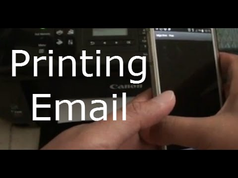 Samsung Galaxy S5: How to Print Out Email to Wireless Printer