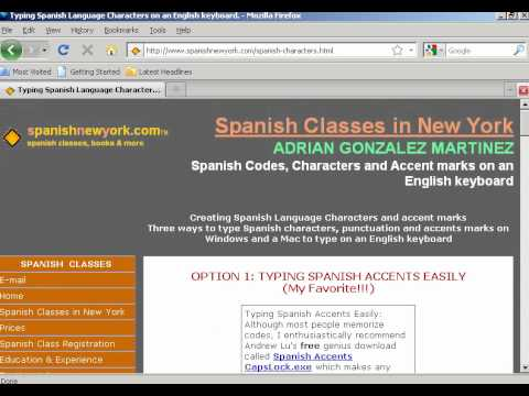 Typing Spanish Letters & Symbols in Microsoft Word