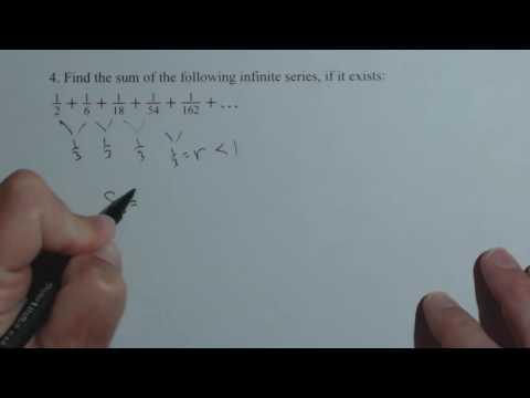 Sum of Infinite Geometric Series QR13 4