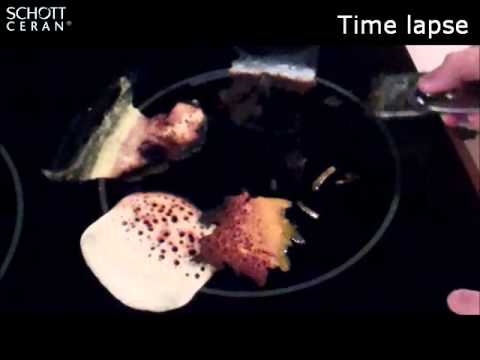 How to clean a SCHOTT CERAN® glass-ceramic cooktop