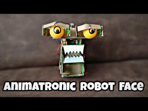 How to make a animatronics robot face