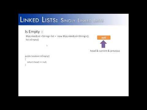 Linked Lists Part 10: Is Empty Method (Java)