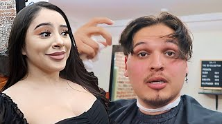 GIRLFRIEND REACTS TO MY NEW KAREN HAIRCUT!! *hope she likes it*