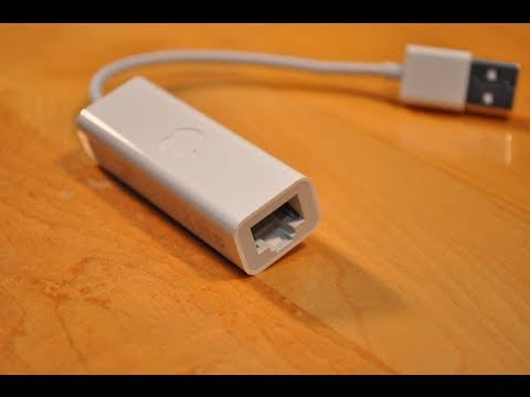 Apple USB Ethernet Adapter: Unboxing and Demo