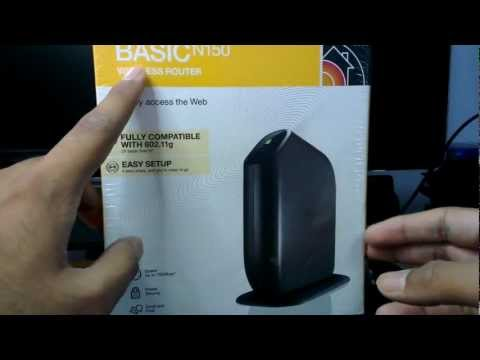 Belkin Basic N150 Wireless Router Unboxing