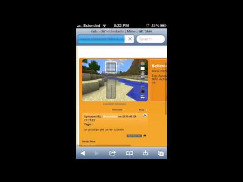 How to change your skin on Minecraft Pocket Edition (Iphone,Ipod,Ipad)