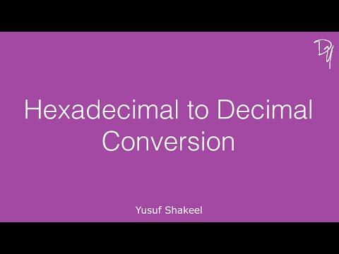 Hexadecimal to Decimal Conversion - step by step guide
