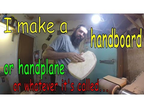 Making a handboard / handplane for body surfing. Woodshop time!