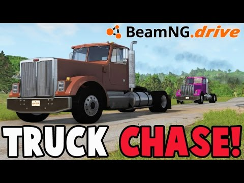 BeamNG Drive - TRUCK CHASE! - BeamNG.drive Chase and Pursuit Scenario Pack