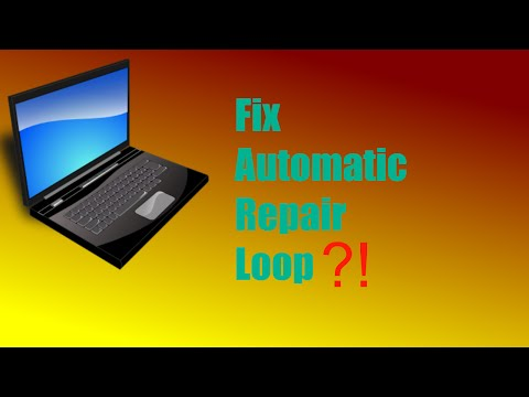 How to FIX windows 8 automatic repair loop!!