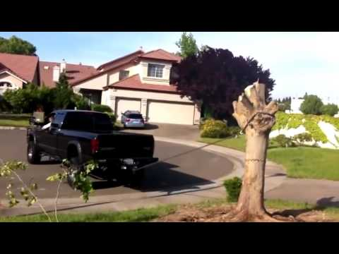 Truck vs Stump Compilation