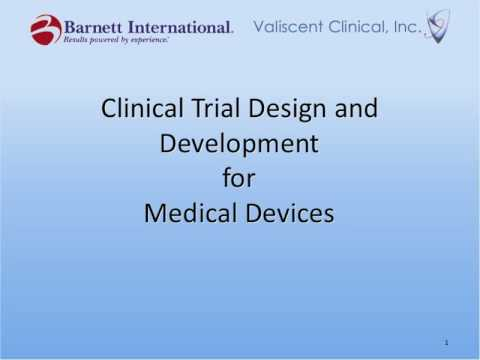 Clinical Trial Design for Medical Devices Trailer