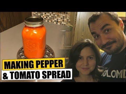 Making Pepper & Tomato Spread