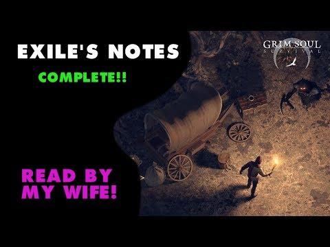 Exile's Notes Story Line Grim Soul Survival (Vid#134)