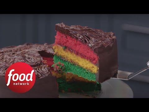 Giant Italian Rainbow Cookie Cake | Food Network