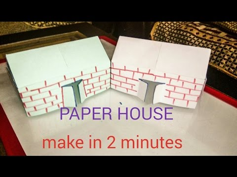 How to make PAPER HOUSE in 2 minutes | origami