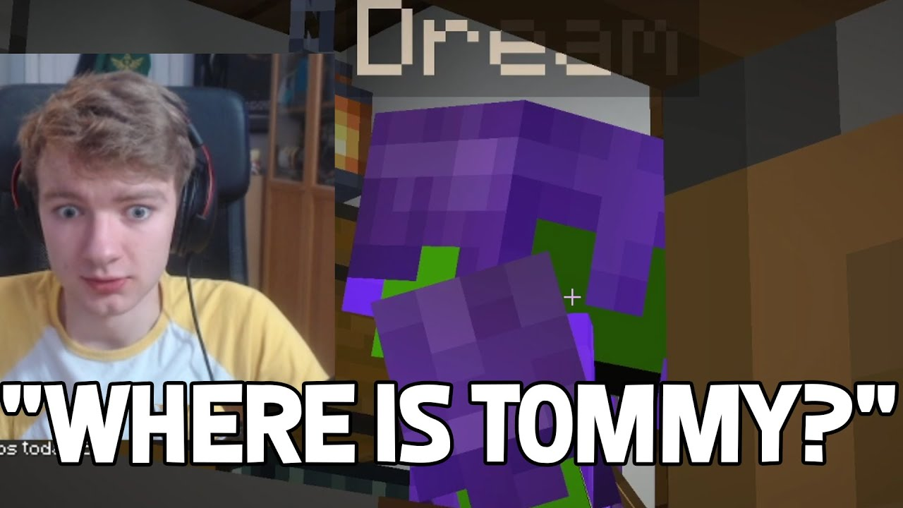 TommyInnit hides from Dream while he visits Technoblade house - Dream SMP