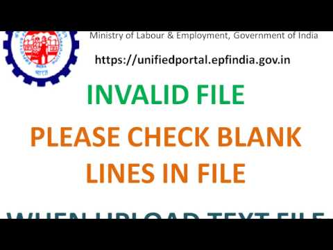 Please check blank lines in file when uploading text file