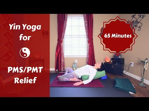 Yin Yoga for PMS, PMT & Hormone Imbalance | Yoga for Tension, Cramps & Bloating {65 mins}