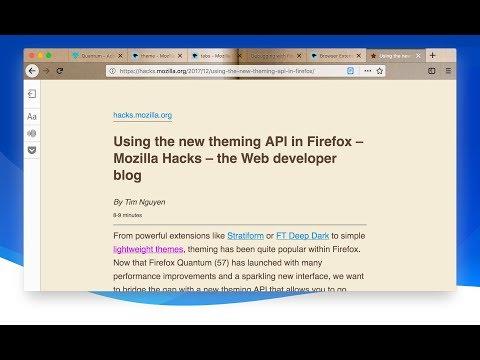 Dynamic Themes in Firefox